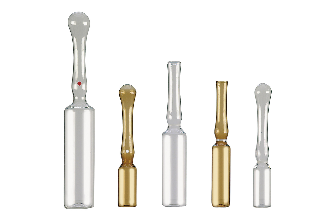 SCHOTT Type I Glass Ampoules - Form B / Form D - Clear Glass / Amber Glass<br>