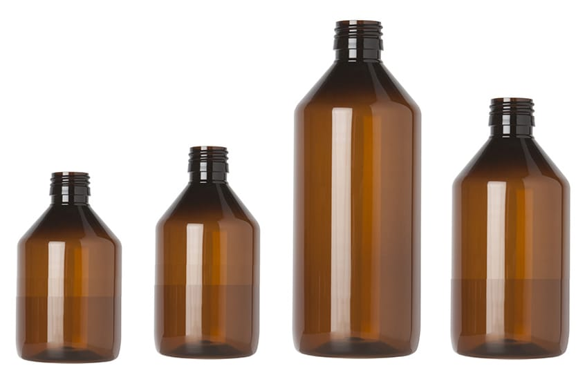 Master PET veral syrup bottles produced by INDEN Pharma under cleanroom conditions<br>