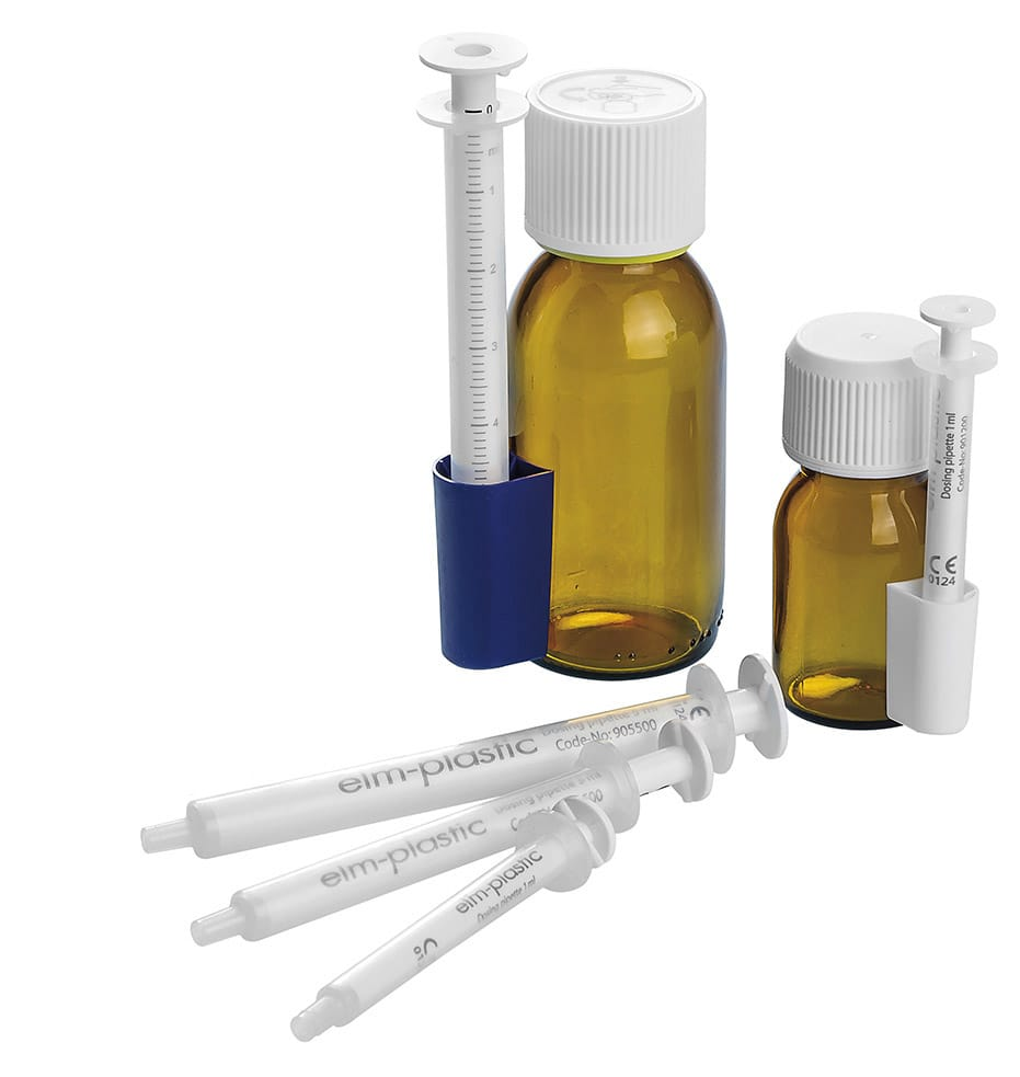 Oral Dosing Pipettes, Holders, Bottles & Caps<br>