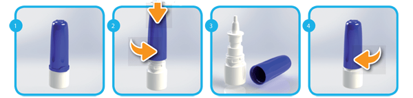 Child Resistant Pharmaceutical Pump Spray