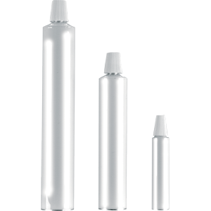Stock Collapsible Aluminium Tubes (White)